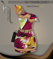 VINCCI DRESS/COLORS (TFG) (H.LUZZA) Tags: floral fashion spring model dress avatar sl secondlife garret hluzza
