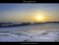 Snowy Sunset (Paul Simpson Photography) Tags: trees sunset snow nature sunshine countryside shadows sunny bluesky fields snowfall hdr nottinghamshire snowscape snowylandscape treeshadows photosof imageof snowimages hdrsunset sonya100 photoof imagesof northnotts cuckoohill february2012 paulsimpsonphotography