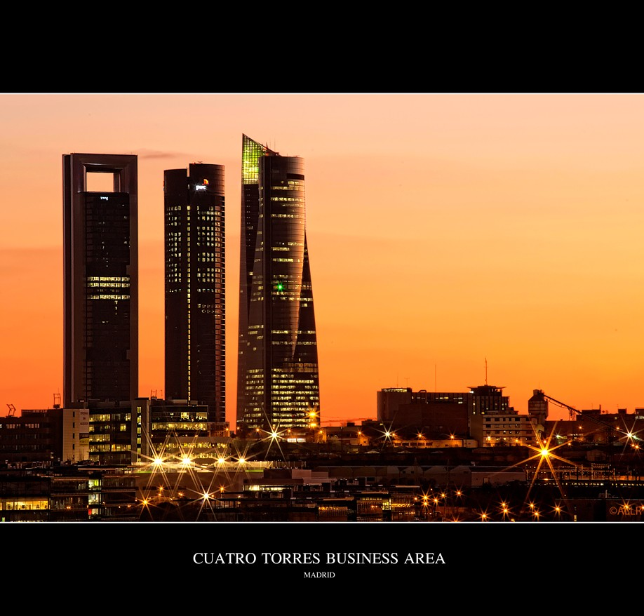 Cuatro Torres Business Area (KeyFotografia) Tags  madrid sunset red orange  tower colors architecture 12912c6652a