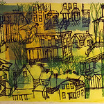 "<b>Evanston Houses</b><br/> Rosemary Zwick (1925-1995) ""Evanston Houses"" Color Serigraph, 1969 LFAC #1997:08:63<a href=""http://farm8.static.flickr.com/7012/6852459041_7b506d8c71_o.jpg"" title=""High res"">∝</a>"