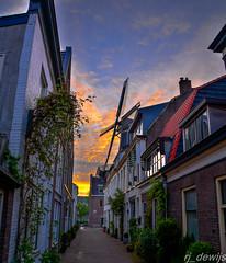 Molen de Adriaan (Arjan de Wijs) Tags: road street city sunset sky holland haarlem netherlands windmill dutch architecture rjdewijs