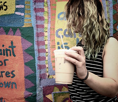 129/366 This One (Bernie Anderson) Tags: people color coffee girl shop lexington kentucky k6 project365 500px project366 ifttt