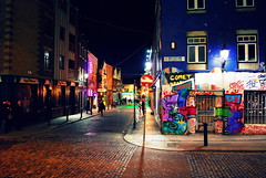 Dublin by Night (hannah_bergmann) Tags: ocean street travel ireland boy sky people dublin art girl beautiful beauty night skyscape landscape lights reisen nikon irland cliffs graffity atlantic human traveling cliffsofmoher altstadt oldtown landschaft moher waterscape klippen strase nikond60 enniston