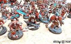 Khorne's Eternal Hunt 2016 (4) (KrautScientist) Tags: world army chaos space 40k knight marines xii renegade hunt legion eternal csm eaters khorne lorimar khornes