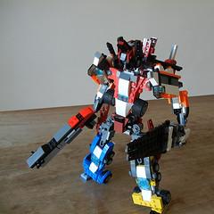 DSCN6445 (alfa145q_lego) Tags: robot lego mecha rebuild alternate 31034 31033 31032 legocreator vehicletransporter redcreatures futureflyers