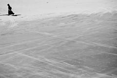 Lady Black (Pensiero) Tags: street newyorkcity blackandwhite bw woman newyork black beach walking coneyisland photography donna sand nero spiaggia