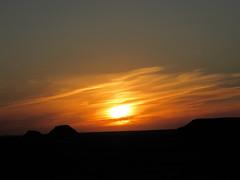 Sunset at Petrified Forest NP in Arizona (Jeff Hollett in Vancouver, WA) Tags: sunset arizona centennial nationalpark anniversary 100 nationalparkservice petrifiedforest 2016