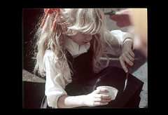 ss23-64 (ndpa / s. lundeen, archivist) Tags: people color film girl boston child massachusetts nick longhair slide blond blonde slideshow mass 1970s paintbrush bostonians bostonian dewolf early1970s nickdewolf photographbynickdewolf slideshow23