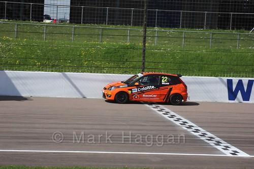 Fiesta Junior Racing during the BRSCC Weekend at Rockingham, May 2016