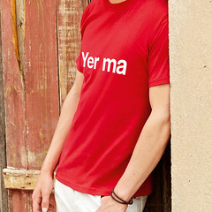yer ma t-shirt (rethinkthingsltd) Tags: birthday christmas boss baby home kitchen up liverpool ma design tshirt parry livingroom made card sound mug greetings decor coaster cushion greeting madeup yerma yer scouser ilsa babygrow eeee laffin chocka jarg typograhic arlarse rethinkthings geggin gegginin