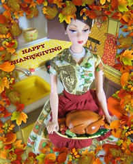 Happy Thanksgiving (partydolly) Tags: barbie mattel holiday hostess fashion doll kitchen diorama one sixth scale rement vintage illco toy sears furniture miniatures partydolly 1975 jody country backdrop gold label limited edition collector exclusive 3100