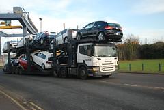WX55 CXV Autologic Scania P 420 Car Transporter, Sheerness Docks (Bud75) Tags: hgv cartransporter heavygoodsvehicle autologic scaniap420 wx55cxv