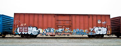 Bobkat, Civ (TheHarshTruthOfTheCameraEye) Tags: california train graffiti three fuck famous letters law northern freight civ ftl phrite sinek benching bobkat bkat