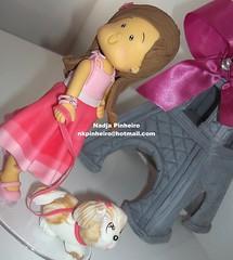 Moda e Magia (Nadja Pinheiro - Biscuit) Tags: pink topo de barbie rosa biscuit infantil torreeiffel bolo criana menina aniversrio modaemagia