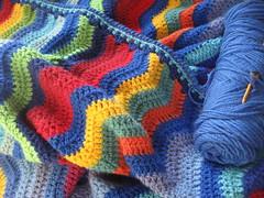 Sweet Melody Edging (Pattygloria) Tags: ripple crochet edge blanket