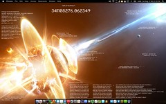 OSX Lion Desktop (ridayah) Tags: desktop laptop customized geektool rainmeter