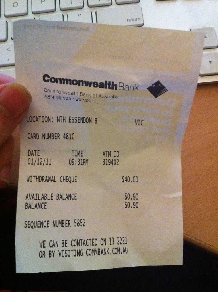 The World's Best Photos of atm and receipt - Flickr Hive Mind