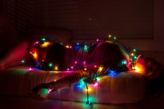 5.365 (VanChamp) Tags: selfportrait christmaslights strangled project365 365days