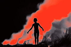 Napalm Girl Vietnam (Brian Howell) Tags: red orange girl june army fire photo war glow image smoke flames apocalypse device vietnam explore viet flame burn incendiary flare strike prize gasoline now press bang 1972 liquid vc 8th nam benzene napalm trang polystyrene flammable pulitzer associated analogy airstrike cong pyrotechnic kimphuc phosphorus jellied nickut phanthikimphuc