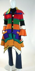 Multicolored Petunia Sweater Coat, Size Extra Small (4-6) (brendaabdullah) Tags: sweater oneofakind coat wearableart etsy multicolored whimsical knitwear ecofashion diyfashion sweatercoat recycledsweaters indiefashion upcycledsweater brendaabdullah ecoconsious multicoloredsweatercoat petitesizesmall