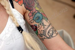 Custom Sleeve by Henry Lee ... (AtSetProductions) Tags: expert tattoo artist henry lee brantford dogford park zeus jody strangway apprentice sarnia machine insects line work professional tattooed tattooing ink desin body art self expression master miami kat von d koi traditional creative inspiring photography video atset productions practice goals emotional angles blonde arm piece lady women sexy huge large amazing symbology needles pain hurts love you forever ect eg go stop start tattoos sleeve sleeves bug ladybug flower flowers floral girly female