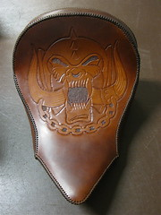 Leather - Motörhead / Victory Motorcycles (Marius Mellebye / 276ccm) Tags: leather skull carved motorcycles victory custom 8ball leatherwork lemmy motorhead kustom bobber mariusmellebye cbp tooled 276ccm