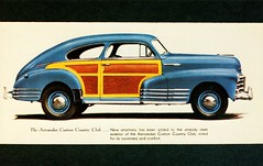 1948 Chevrolet Aerosedan Custom Country Club (aldenjewell) Tags: 1948 chevrolet club postcard country custom brochure aerosedan