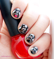 12 days of holiday nail art! day 3! reindeer! (rivka yyz) Tags: nail artx view photos from you or everyone polishx manicurex reindeerx holidayx christmasx designx vernis onglesx 2011x opix rgbx dotting tool