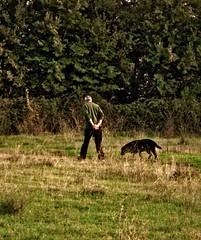 Roma - Caffarella - Padrone e Cane (byus71) Tags: italy dog man rome roma field cane italia uomo appia caffarella