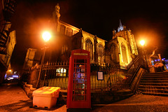 Mancroft Phonebox by Night (jammo s) Tags: old england classic church night dark lights tripod norfolk norwich british middleages phonebox floodlit manfrotto sigma1020mm jammo canoneos60d medievalnorwich