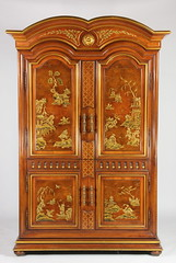 11. Chinoiserie Decorated Entertainment Cabinet