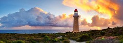 Ever Watchful (Female face in the clouds) (Tim Poulton) Tags: ocean sunset sky lighthouse seascape nature water clouds landscape nikon wide australia tourist panoramic cloudscape ptgui d3x zf2 makroplanart250 zeisscontest2011