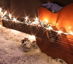 [EXPLORED]   One Silent Night (Baking is my Zen) Tags: snow guitar twinkle christmaslights explore classicalguitar jacivelasquez christmasmusic silverbells explored guitarlove carmenortiz canonrebelt1i bakingismyzen onesilentnight