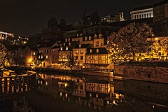 The Color of the Night is not always Black_(Explored Highest Postion #1) (Christoph Pfeilstücker) Tags: reflection water colors night canon river europe nacht vivid explore luxembourg farbe nuit letzebuerg luxembourgcity explored 5d2 xris74