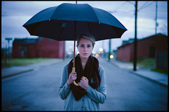 rainy day. (iambrettprice) Tags: leica portrait zeiss umbrella 50mm bokeh m9 f15 sonnar zm digitalrangefinder