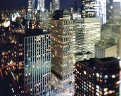 tribeca and lower manhattan at night (andrew c mace) Tags: roof film rooftop skyline night analog cityscape manhattan aerial swing financialdistrict brooklynbridge 4x5 tribeca monorail provia largeformat lowermanhattan schneider cambo 100f tiltshift 150mm v700 epsonv700 aposymmarl