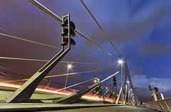Bright Lights, Big City (Rob Kints (Robk1964)) Tags: city longexposure bridge vanishingpoint rotterdam nightshot scifi bluehour ultrawide erasmusbrug urbansafari canonefs1022mmf3545usm nachtopname ersamus supergroothoek