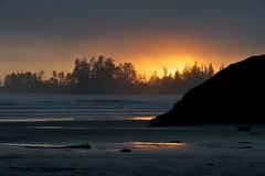 Sunset (GabriolaBill) Tags: ocean road trip sunset canada laura beach nature vancouver island nikon memorial dad waves bc britishcolumbia scenic roadtrip falls vancouverisland driftwood memory tofino portalberni d3s nikond3s