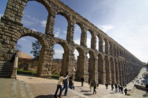 Segovia 2011, Acueducto Romano. Aqueduct of Segovia (or the aqueduct bridge)