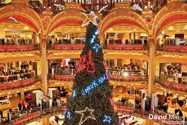 Paris, France - Xmas Tree @Galeries Lafayette