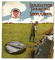 A Farmer Irrigates his Crop (glenbowmuseum) Tags: water advertising farms immigrants immigration irrigation landsettlement drylandfarming westernsettlement agriculturalsettlement glenbowlibraryandarchives immigrationliterature