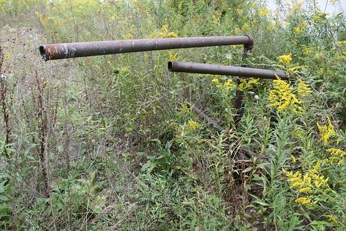 Cut oil tank pipes