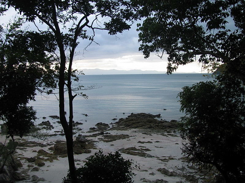 View of St Matthew's Island (Burma) from Khao Kwai  Hill Resort restaurant