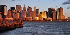Lower Manhattan at Sunset (PMillera4) Tags: sunset newyork skyline newjersey jerseycity manhattan newyorkskyline lowermanhattan libertystatepark skyscapers downtownmanhattan