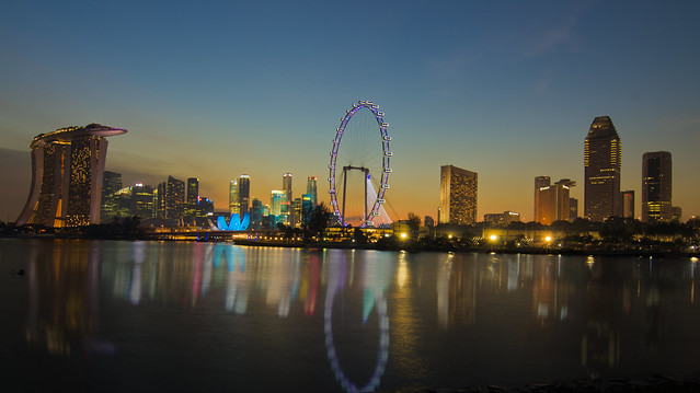 Singapore 2012 countdown- sunset