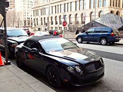Bentley Continental SS Convertible (Hertj94 Photography) Tags: park chicago black public illinois december michigan continental convertible millennium exotic fujifilm british spotted avenue bentley supersports 2011 worldcars