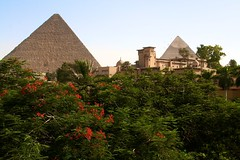 View from our hotel room (VirginiaBreedlove ) Tags: egypt pyramids egypte menahouse piramiden caïro