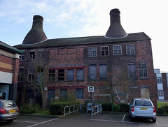 Sad state of affairs for a listed building! (stokeyouth1) Tags: windows winter urban architecture bottle industrial oven urbandecay panasonic stokeontrent pottery kiln past staffordshire commercestreet potteries longton dmctz5 neckend commerceworks