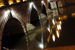 {Day 153 / 365} (MegsPhotosUK) Tags: bridge reflection water night river flow lights nikon slow shot flood debris riversevern worcester slowshutterspeed project365 d3000 highwaterline