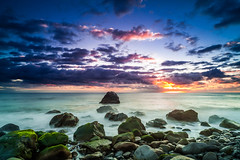 Madeira Sunset, Ponta do Sol (LR4 Beta) [EXPLORE] (MagnusL3D) Tags: ocean sunset beach water clouds zeiss nikon rocks stones explore madeira pontadosol d700 distagont2821 mygearandme mygearandmepremium mygearandmebronze mygearandmesilver mygearandmegold mygearandmeplatinum mygearandmediamond
